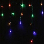49M 700 LED Christmas Icicle Light - Multi Colour (Clear Cable)