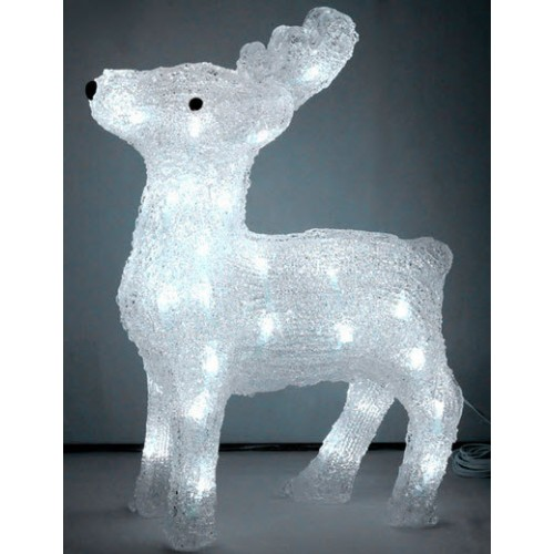3D Acrylic Reindeer - 38CM High with 40 LED Lights LED Lights