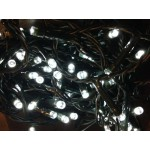 25M 300 LED White Fairy Lights ( Green Cable)