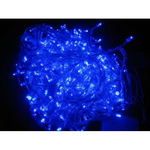 65M 600 LED Christmas Fairy Lights - Blue