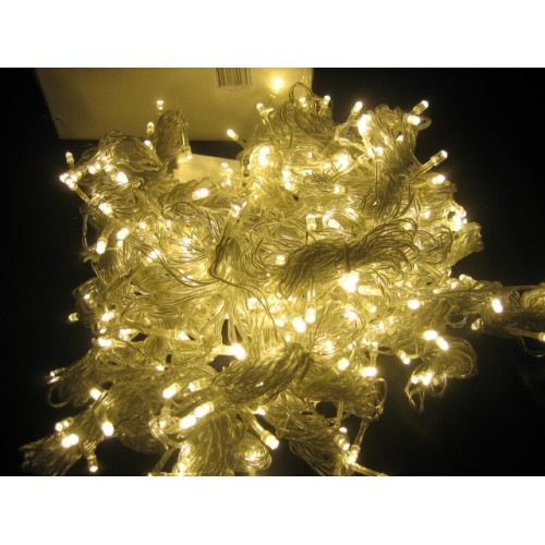 65M 600 LED Christmas Fairy Lights - Warm White