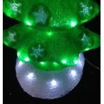 3D Acrylic Christmas Tree - 53CM High with 60 LED Lights - Green Colour
