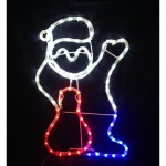 Santa-Christmas-Motif-Rope-Lights-Christmas-Display-Silouhette