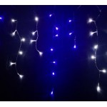 Connectable 17.5M 300 LED Christmas Icicle Lights - White&Blue