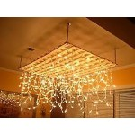 49M 700 LED Christmas Icicle light Warm White (Clear Cable)