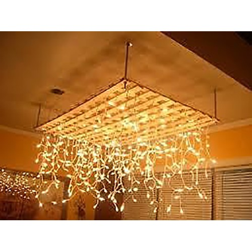 11.5M 200 LED Christmas Icicle Lights - Warm White