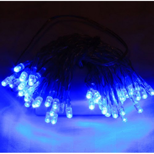 6M 60 LED Battery Powered Fairy Lights - Blue