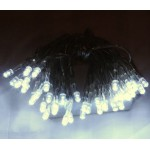 18M 200 LED Battery Powered Fairy Lights - White (Clear Cable)