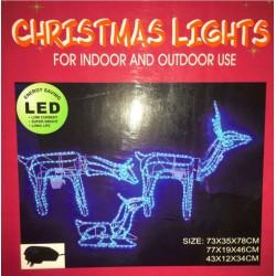 Silouhette lights 3d deer family set of 3 animated led blue christmas motif rope lights aloadofball Choice Image