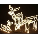 3D Deer Family Set of 3 Animated LED Warm White Christmas Motif Rope Lights
