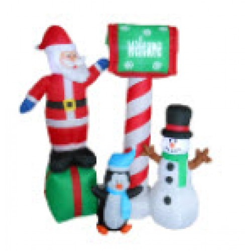 150CM Inflatable Santa, Snowman, Penguin Welcome with Lights