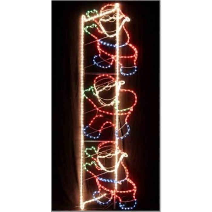 led animated santa climbing ladder christmas motif rope lights christmas rope lighting16 christmas