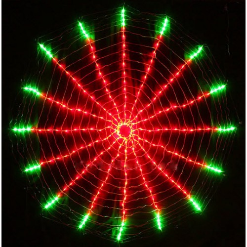 90CM Diameter 192 LED Red & Green Rotation Clock Function