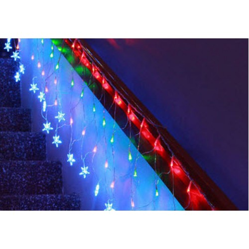 Net Light with Stars - Multi Colour
