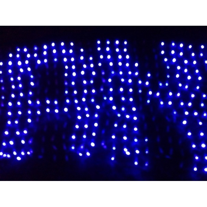 448 led programmable net light blue colour create your own christmas messsage party sign