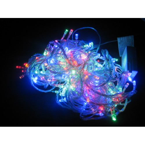 19M 200 LED Fairy Lights - Multi Colour (Clear Cable)
