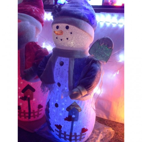 40 Inch Snow Man Toy Ornament Music and Led Snow fall