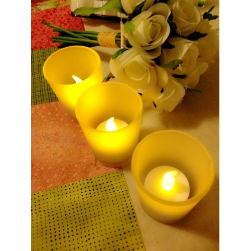 LED Flickering Tealight Candles (6 Pieces)