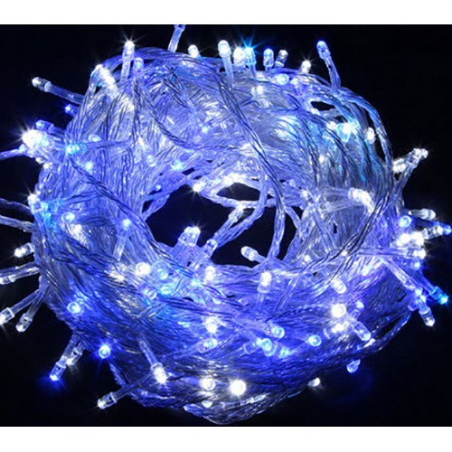 25M 300 LED Fairy Lights - Blue And White