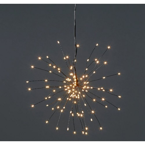 Fireworks Light - 200 LED - Warm White (black wire)
