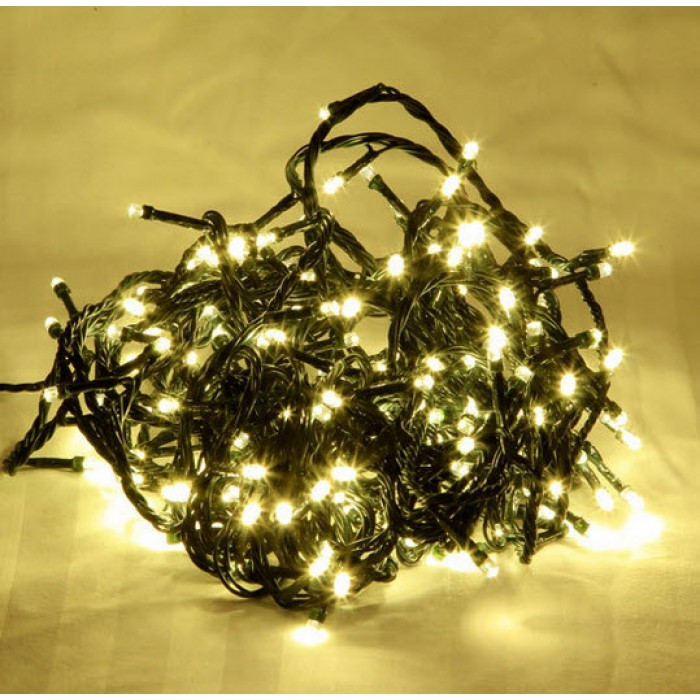 Bright Led Christmas Lights.25m 300 Led Warm White Christmas Fairy Lights Green Cable