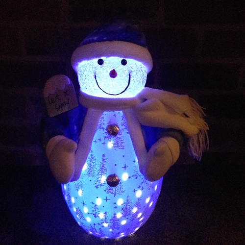 50 CM. Snow Man Toy Ornament Music and Led Snow fall