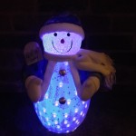 50 CM. Santa Toy Ornament Music and Led Snow fall
