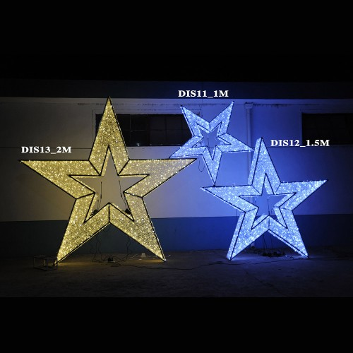 3D Star 1.5M  Display Lights Outdoor Large-Motifs Decorations