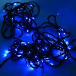 25M 300 LED Blue Fairy Lights ( Green Cable)