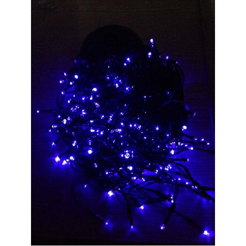 12M 300LED Solar Icicle Lights - Blue Colour