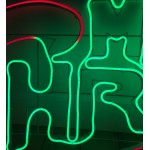 MERRY CHRISTMAS RED BLUE AND GREEN Neon (145cm)