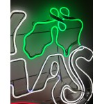 MERRY CHRISTMAS RED WHITE AND GREEN Neon (145cm)