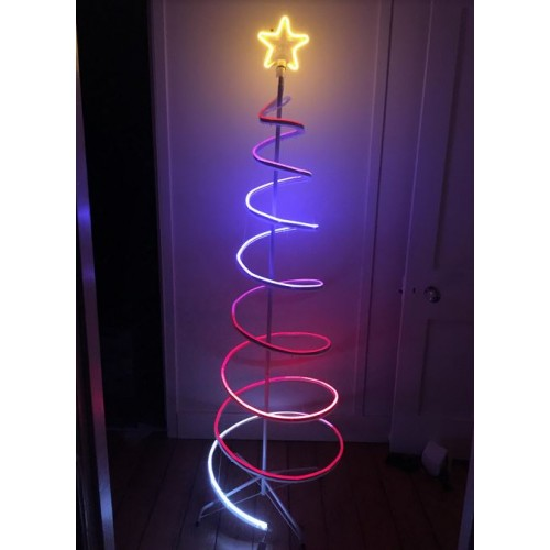 3D 180CM Spiral Tree  Neon Dual Colour