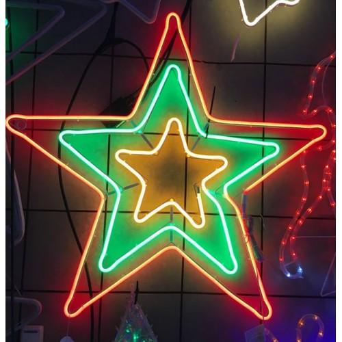 3 Layer Stars Super Bright Neon 84 X 81 CM.