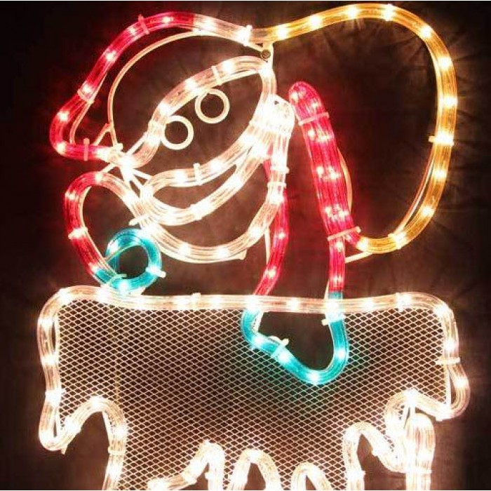 120cm40cm led animated santa climbing chimney christmas motif rope led animated santa climbing chimney christmas motif rope lights aloadofball Choice Image
