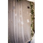 180 LED Christmas & Wedding Curtain Lights - Warm White (3M * 2.5M)